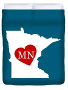 Love Minnesota White Duvet Cover