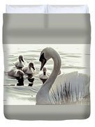 Love Of Mother Swan Duvet Cover