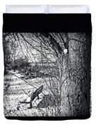 Love On A Tree Duvet Cover by CJ Schmit