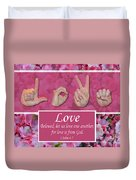 Love One Another Duvet Cover