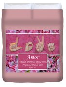 Love One Another Spanish Duvet Cover