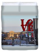 Love Park And The Parkway In Philadelphia Duvet Cover
