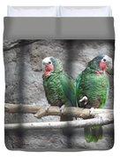 Love Parrots Duvet Cover