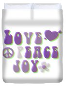 Love Peace And Joy Duvet Cover