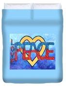 Love Peace Duvet Cover