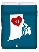 Love Rhode Island White Duvet Cover