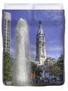Love Sculpture Philadelphia  Duvet Cover