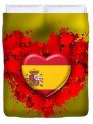 Love Spain Duvet Cover