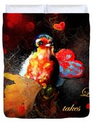 Love Takes Flight Duvet Cover