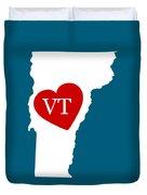 Love Vermont White Duvet Cover