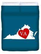 Love Virginia White Duvet Cover