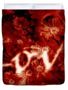 Love With Flowers Duvet Cover