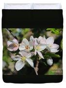 Lovely Apple Blossoms Duvet Cover