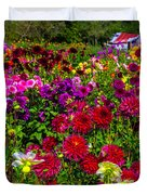 Lovely Dahlia Garden Duvet Cover