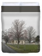 Lovely Day At An Amish Schoolhouse Duvet Cover