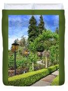 Lovely Day In The Garden Duvet Cover by Carol Groenen