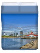 Lovely Day Long Beach Duvet Cover