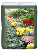 Lovely Flowers In Manito Park Conservatory Duvet Cover