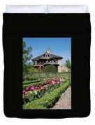 Lovely Garden And Cottage Duvet Cover by Jennifer Ancker