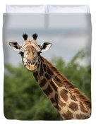 Lovely Giraffe In Tarangire - Square Format Duvet Cover