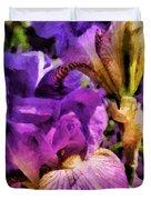 Lovely Iris Duvet Cover