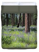 Lovely Lupine In The Mountains Duvet Cover