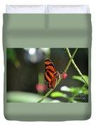 Lovely Orange Oak Tiger In The Spring Duvet Cover