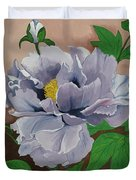 Lovely Peony Flower With Buds Duvet Cover