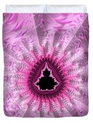 Lovely Pink Fractal Art Duvet Cover