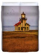 Lovely Point Cabrillo Light Station Duvet Cover