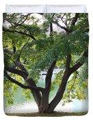 Lovely Tokyo Tree With Pond Duvet Cover