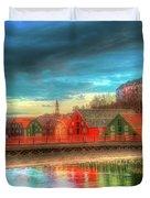 Lovely Trondheim Norway Duvet Cover