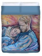 Lovers And Dragonflies Duvet Cover