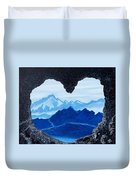 Lovers Cave Duvet Cover