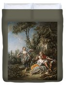 Lovers In A Park Duvet Cover