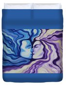 Lovers In Eternal Kiss Duvet Cover by Jindra Noewi