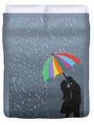 Lovers In The Rain Duvet Cover
