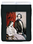 Lovers Quarrel, 1846 Duvet Cover
