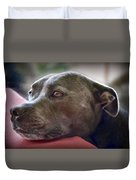 Loving Pitbull Eyes Duvet Cover