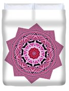Loving Rose Mandala By Kaye Menner Duvet Cover