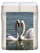 Loving Swans Duvet Cover