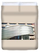 Low Angle View Of A Building, Dr. A. H Duvet Cover