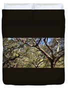 Low Angle View Of Trees In A Park Duvet Cover