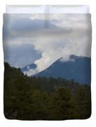 Low Clouds In Ute Pass Colorado Duvet Cover