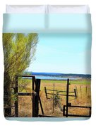 Low Land By The Lake Duvet Cover