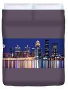 Low Moon Over Louisville Duvet Cover