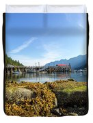 Low Tide At Horseshoe Bay Canada On A Sunny Day Duvet Cover