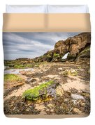 Low Tide At Saddle Rocks Duvet Cover
