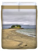 Low Tide In Popham Beach Maine Duvet Cover