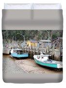 Low Tide In St. Martins Duvet Cover